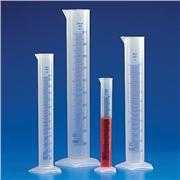 Graduated Cylinder - PP, Blue Printed Graduations