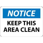 Thumbnail Image for Notice, Keep This Area Clean Signs