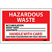 Thumbnail Image for Hazardous Waste, Handle with Care Labels